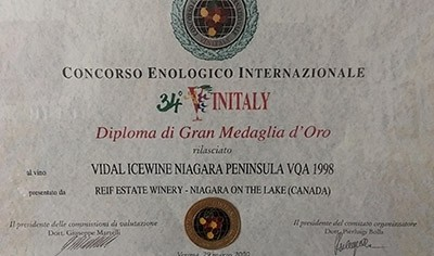 Grand Gold awarded at Vinitaly
